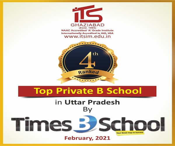 I.T.S School of Management has been ranked as 4th